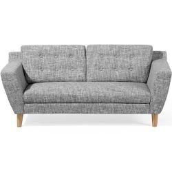 3 Sitzer Sofa Polsterbezug Grau Meliert Kuopio Beliani In 2020 Grau Meliert 2 Sitzer Sofa Grau