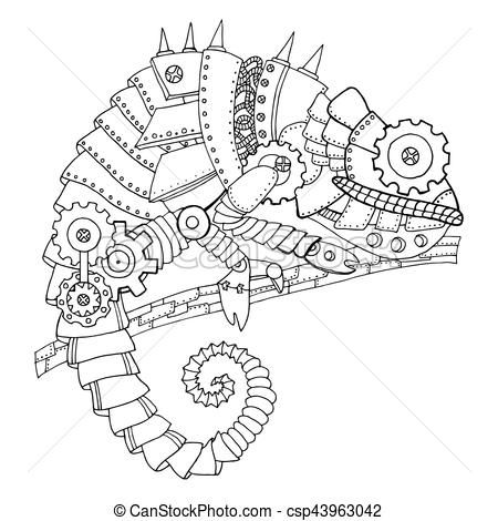 Related Image Steampunk Drawing Steampunk Animals Steampunk Coloring Book
