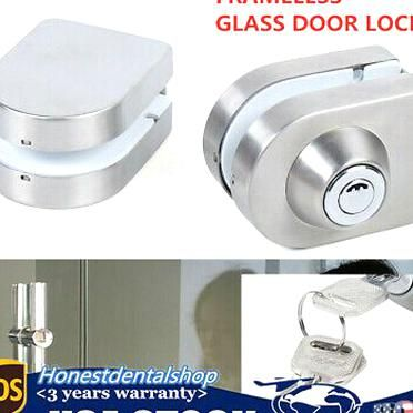 Adebay Frameless 10 12mm Single Open Glass Door Lock Latch Bolt W 3keys Home Security In 2020 Glass Door Lock Glass Door Door Locks