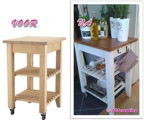 Keuken Bijzet Tafel.Diy Ikea Roltafel Pimpen Naar Landelijk Exemplaar