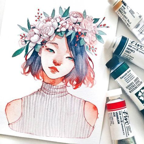 Flower Crown Tools Account Ashiyadiary Flower Crown Drawing Crown Drawing Colorful Art