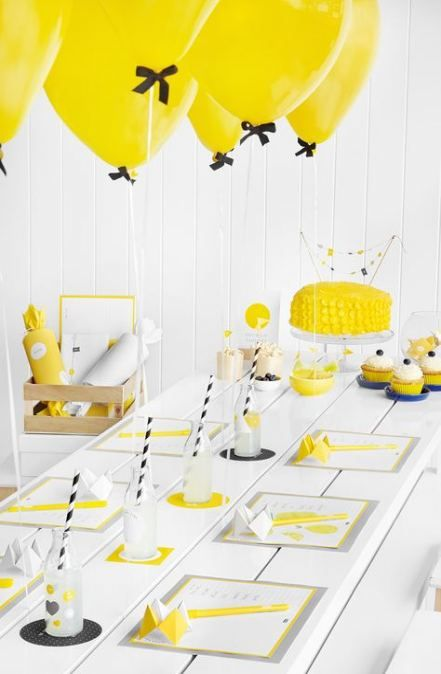 19 Super Ideas For Party Table Decorations Birthday Simple Yellow Party Birthday Party Tables Wiggles Party