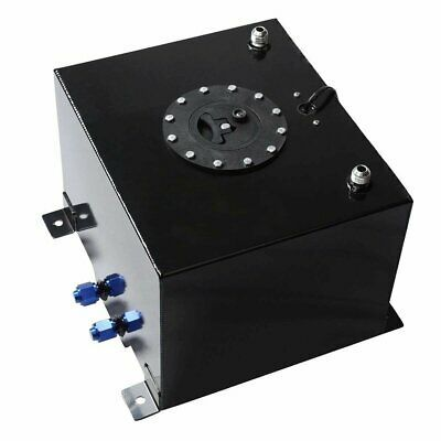 15 GALLON//57L BLUE ALUMINUM RACING//DRIFT FUEL//GAS CELL TANK+CAP+LEVEL SENDER