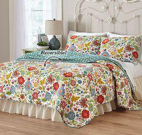 Bright Floral Quilt Set Home Home Decor Quilt Sets