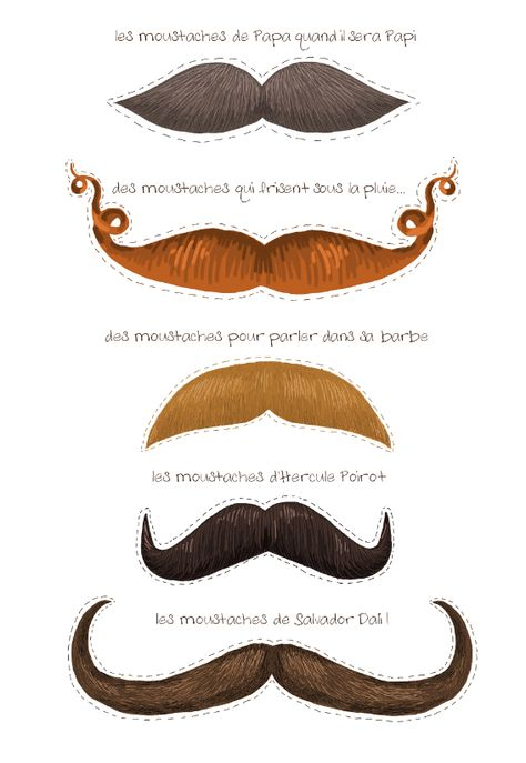 free printable silly mustaches