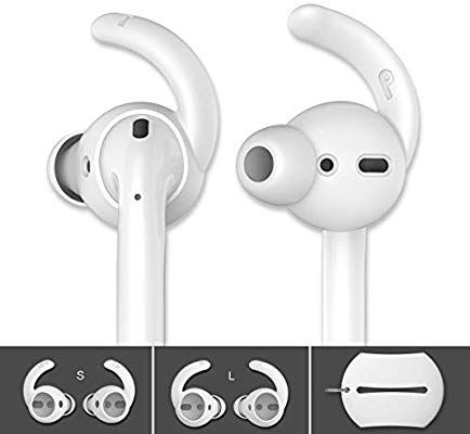 Amazon Com Ahastyle 2 Pairs Airpods Ear Hooks Tips Earbuds Covers Added Storage Pouch Compatible With Apple Airpods 2 Earbuds Apple Airpods 2 Iphone Earbuds