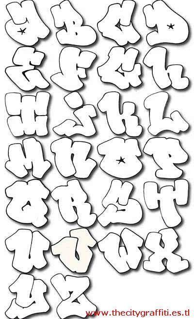Resultado De Imagen Para Letras Para Dibujar Letras Graffiti Abecedarios De Graffitis Tipos De Letras Graffiti