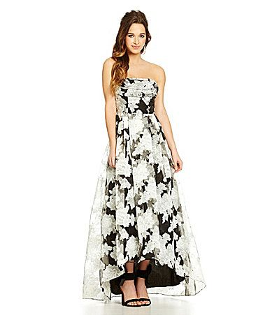 a1446769de6 B Darlin FloralPrint Strapless Ball Gown  Dillards