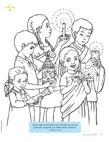 Be A Light Coloring Page Lds Coloring Pages Coloring Pages Lds