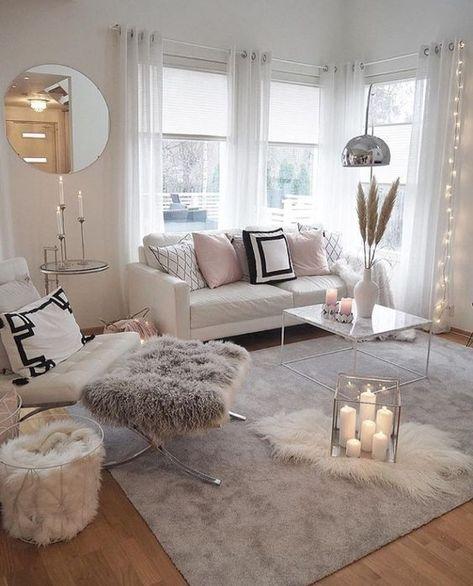 Cozy pink home, living room decoration ideas, modern interior design, modern home decor #homedecor #livingroomdecor