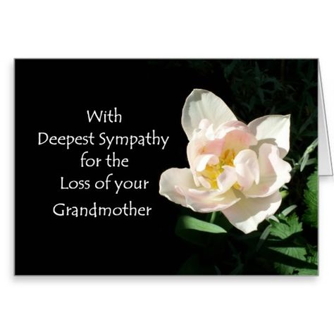 sympathy grandmother cards Deepest sympathy on loss of - sympathy message