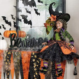 New Halloween Decorations New Halloween Haven Decor Grandin Road Beware Halloween Halloween Witch Decorations Katherine S Collection