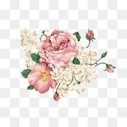 Retro Flowers Roses Flowers Png Transparent Clipart Image And Psd File For Free Download Art Drawings Simple Flower Png Images Retro Flowers
