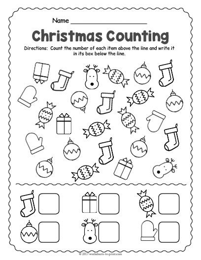 Free Printable Christmas Counting Worksheet Christmas Worksheets Kindergarten Preschool Christmas Worksheets Counting Worksheets For Kindergarten