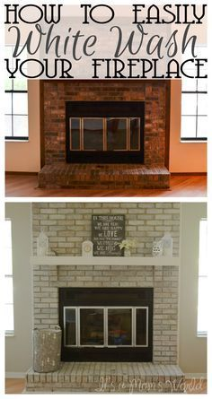 Its A Moms World How To White Wash Your Fireplace In 3 Easy Steps