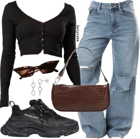 Shop Madewell Bag and Jeans Sale May 2020 Teen Fashion Outfits, Edgy Outfits, Swag Outfits, Mode Outfits, Retro Outfits, Look Fashion, Girl Outfits, Teenager Outfits, Polyvore Outfits Casual