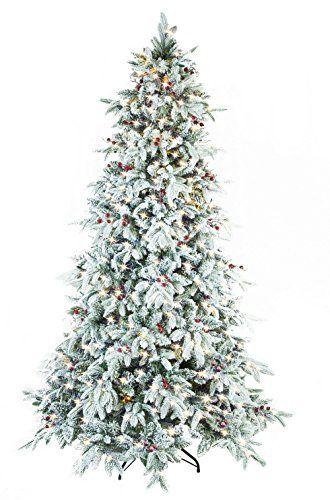 Abusa Flocked Snow Pe Pvc Mixed Pine Artificial Christmas Https Www Amazon Com Dp B07c4qrxh5 Ref White Led Lights Artificial Christmas Tree Christmas Tree