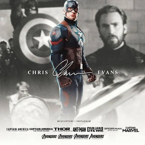 """Chris Evans ♡ on Instagram: """"The ONE AND ONLY Captain America 💪 * #chrisevans #chrisevansfan #chrisevanspics 🤩�"""