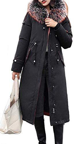 Winwinus Men Classic Thickened Hooded Warm Pea Coat Jacket