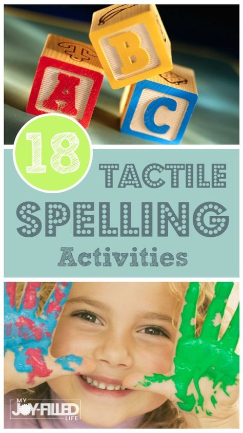 Fun Hands-On Spelling Activities