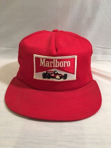 ab7c3e5a8 Marlboro Vintage 70's Racing Team Snapback Trucker Hat USA Made NY ...