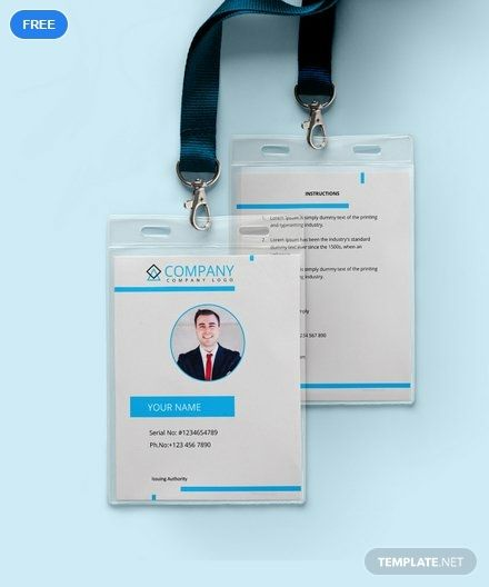 Modern Id Card Template Free Pdf Word Apple Pages Publisher Id Card Template Employee Id Card Card Templates Free