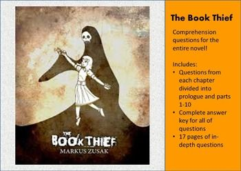 The Book Thief Comprehension Question And Answer For Entire Novel Thi Or That Novels Essay Questions