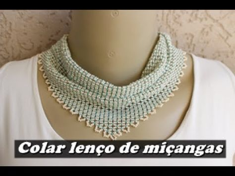 Beaded Necklace with Bugle Beads.