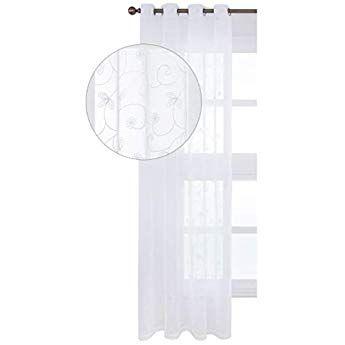 HEELPPO gardine Weiss transparent vorh/änge grau Sheer vorh/änge f/ür Windows Moderne Voile Panels Sheer vorh/änge Net vorh/änge 100X200,pink