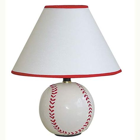 Ceramic Baseball Table Lamp With Images Baseball Room Decor Lamp