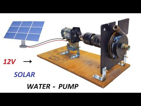 Make 12v 5a Dc Motor Solar Water Pump From Old 220v Induction Motor Pump Diy