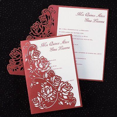 Regal Roses Invitation Quinceanera Invitations Quince