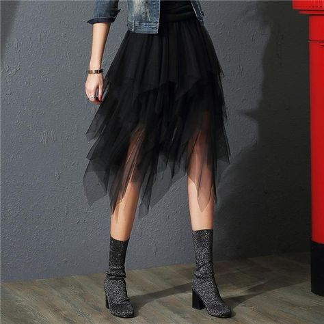 fashion tulle skirt on sale at reasonable prices, buy Tulle Skirts Womens Faldas Mujer Moda 2019 Fashion Elastic High Waist Mesh Tutu Maxi Pleated Long Midi Saias Jupe Women's Skirt from mobile site on Aliexpress Now!
