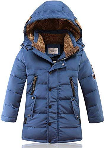 LJYH 2017 NEW STYLISH Big Boys Down Jacket Hooded Parka Outwear Coat with Faux Fur Trim
