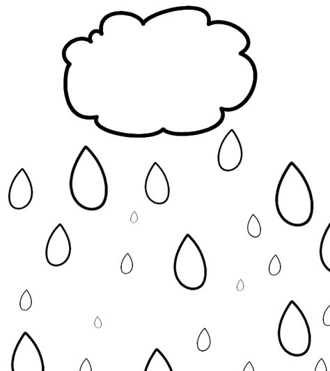 Yagmur Bulutu Boyama Kalibi Bu Icerik Kpssdelisi Com Dan