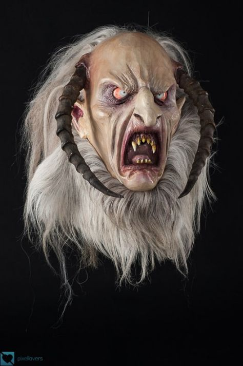Trick or Treat King Pumpkin Full Head Krampus Halloween Costume Mask JM112