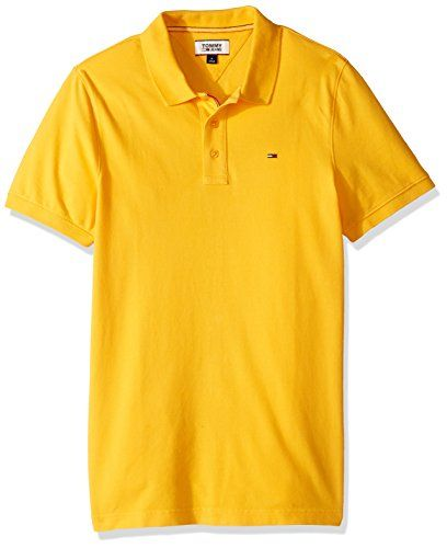 Tommy Hilfiger Mens Polo Shirt Slim Fit Original Flag with Short Sleeves