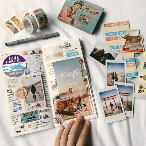 Four Bullet Journal Spreads for Travel Addicts – Dingbats* Notebooks – Medium