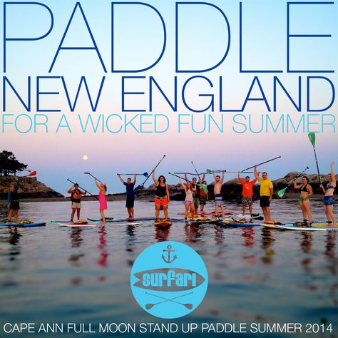 Cape Ann Full Moon SUP to Sand Dollar Cove in Manchester, MA. July 11 and 12, August 9 and 10, September 8th.