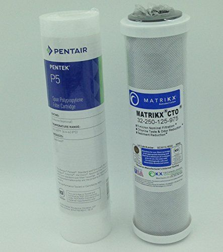 Water Filter Cartridge Replacement Set Includes Kx Matrikx Cto 10 Inch Carbon Block Filter Cartridge And Pentek P Water Filter Cartridge Filters Water Softener