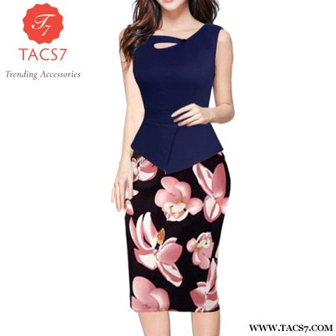 a2d87f6ae91f Work Summer Style Women Bodycon Pencil dress Sexy 2017 New Arrival Casual  black and pink Crew Neck sleeveless Midi Dress