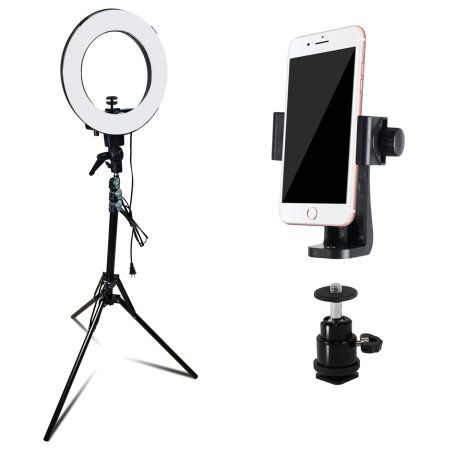 Free Shipping Buy Loadstone Studio 12 Dimmable Fluorescent Round Ring Light Continuous Lighting Kit For Beauty Fa Tripod Lighting Continuous Lighting Tripod
