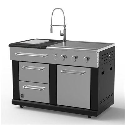 Master Forge Outdoor Kitchen Bg179cl Modular Sink With 36 000 Btu Side Burners Modular Outdoor Kitchens Outdoor Kitchen Appliances Outdoor Kitchen Sink