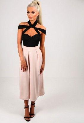 Odette Black Multi Strap Bodysuit