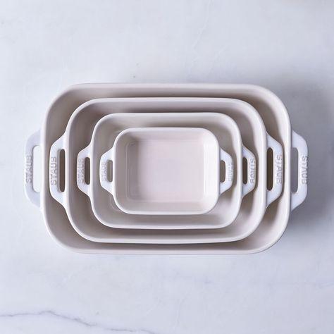 Staub Ivory Rustic Ceramic Rectangular Baking Dishes Ceramic