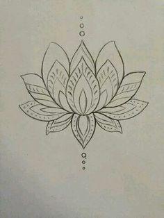 Fiore Di Loto Tattoo Disegno.Simbolo Fiore Di Loto Tatuaggio Pinterest Simbolo