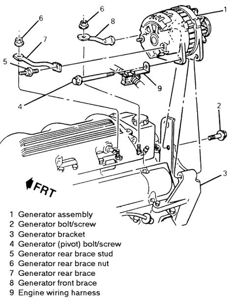 1998 Oldsmobile Cutlass Engine Diagram