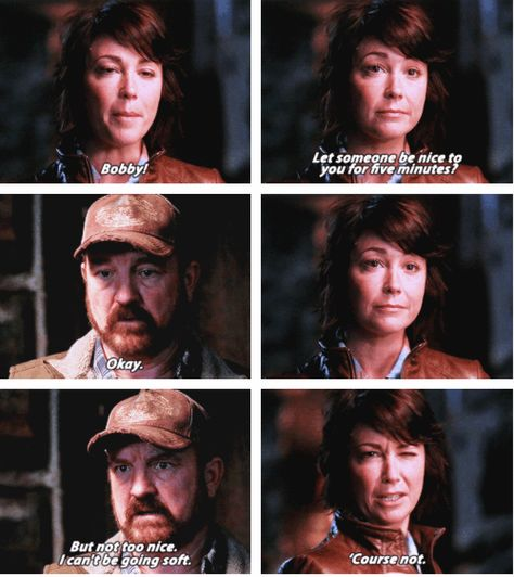 [SET OF GIFS] 7x06 Slash Fiction Aww, I miss Bobby and sheriff Mills. Separately and together.
