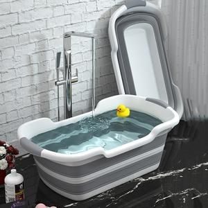 Newborn Baby Folding Bath Tub Big Capacity Tubs Bath Washing