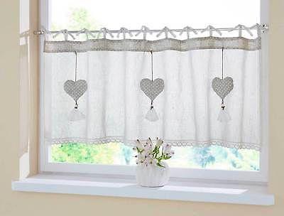 Fenstervorhang Scheibengardine Herzhanger Bistro Fenster Vorhang Halb Gardine Eur 10 80 Picclick De Scheibengardine Vorhange Gardinen